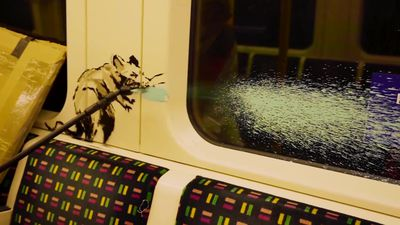 Banksy creates coronavirus-related artwork on London Underground tube carriage