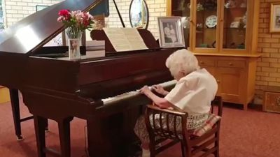98-year-old care home resident completes 100-day piano marathon