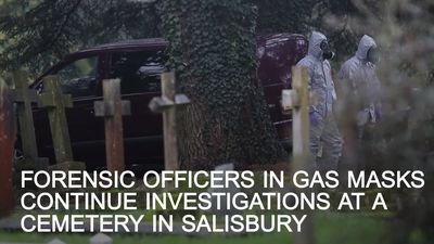 Forensic officers carry on investigations at Salisbury cemetery