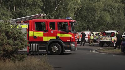 Chobham wildfire: Fire crews remain at scene of blaze