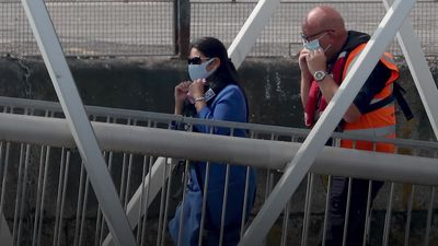 Priti Patel in Dover as Government face criticism over migrant crossing crisis