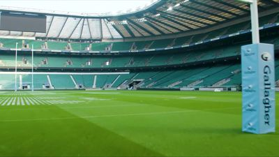 Rugby stars painted on Twickenham grass as Premiership season restart nears