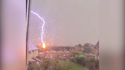 Residents shocked by sudden lightning bolt