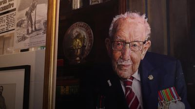 Captain Sir Tom Moore portrait goes on display