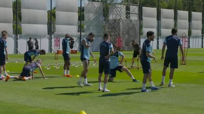 Man City train ahead of Lyon quarter-final