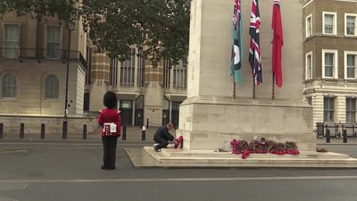 Defence Secretary lays wreath for VJ Day