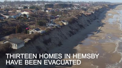 Norfolk homes on the verge of falling into the sea