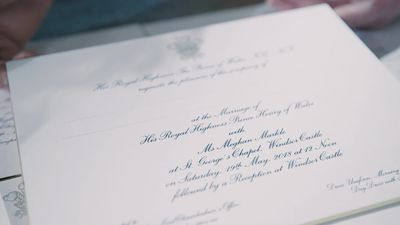 Prince Harry and Meghan Markle's wedding invitations printed in London