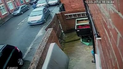 CCTV shows car plough into elderly man in Manchester