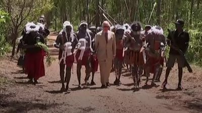 Aboriginal welcome for Prince Charles during Australia tour