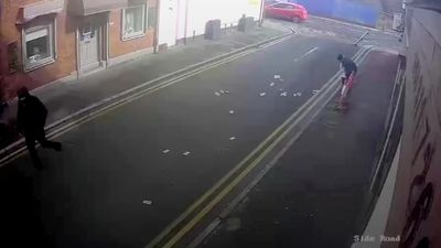 Bungling burglars chase cash as wind blows it away