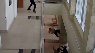 Man facing drugs charges leaps from courthouse balcony