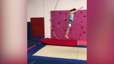 Gymnast diagnosed with cancer opts for unusual surgery