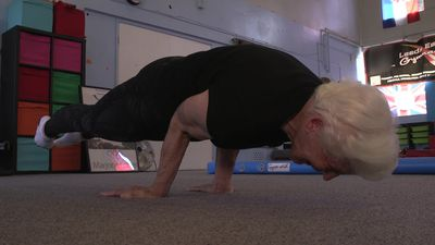 84-year-old former Olympic gymnast still performing gravity-defying routines