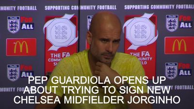 Pep Guadiola opes up about trying to sign Chelsea's new midfielder Jorginho