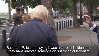 Boris Johnson comments on 'troubling' Westminster terror incident