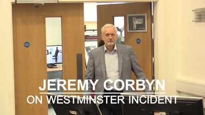 Jeremy Corbyn praises emergency services after suspected terror attack in Westminster