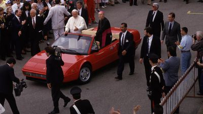 The Pope and his cars