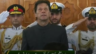 Imran Khan sworn in as Pakistan's prime minister
