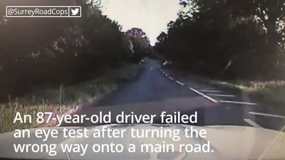 Driver, 87, fails eye test after driving wrong way onto main road