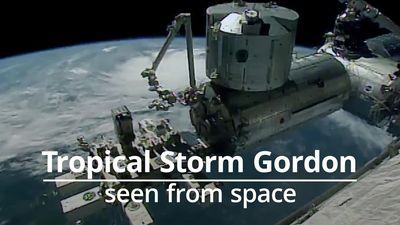 Footage of Tropical Storm Gordon from space