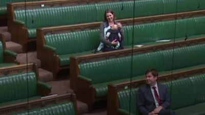 MP cradles baby in Commons during push for proxy voting