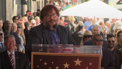 Jack Black calls Donald Trump a 'piece of s***' as he receives Hollywood star