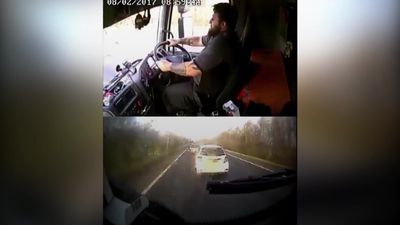 Fatal crash lorry driver caught using phone jailed for five years