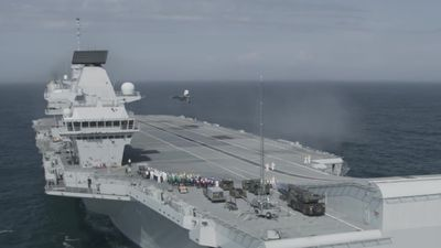 First F-35 fighter jets land on UK's new aircraft carrier