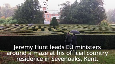 Jeremy Hunt hosts European foreign ministers at his official residence