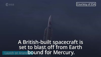 British-built spacecraft is set for Mercury