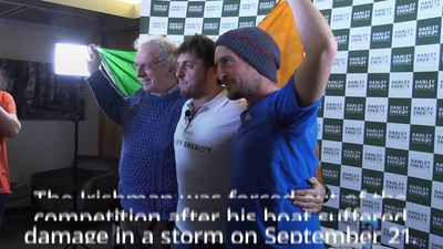 Irish sailor who tried to rescue competitor arrives home to rapturous welcome