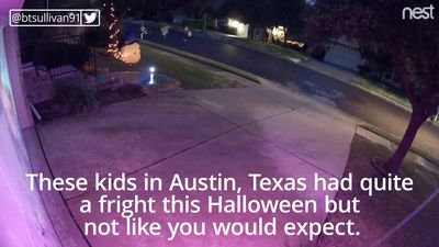 Lightning strike scares children out trick-or-treating