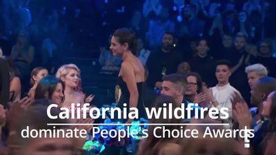 People's Choice Awards: Kim Kardashian West and Mila Kunis honour those battling California wildfire