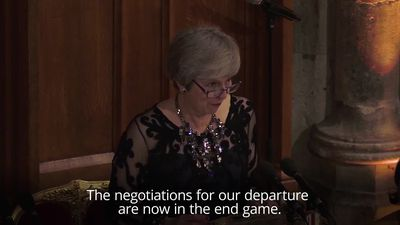 Theresa May on Brexit: Negotiations are in the end game