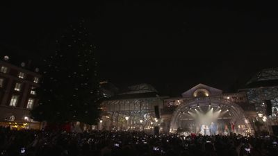 Paloma Faith lights up Covent Garden for Christmas