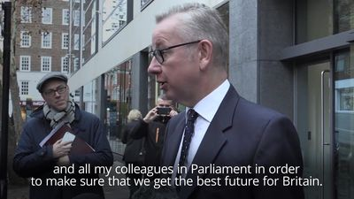 Michael Gove committed to 'best future for Britain'