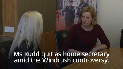 Amber Rudd makes dramatic return to Theresa May's Cabinet