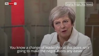 Theresa May: Toppling me won't help Brexit