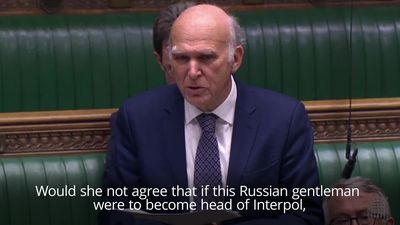Sir Vince Cable: Interpol could become 'a branch of the Russian mafia'