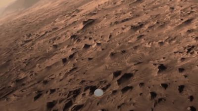Nasa lander prepares to touch down on Mars