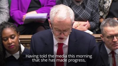 Corbyn and May clash in Commons ahead of no confidence vote