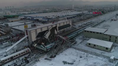 At least four dead after train crash in Ankara
