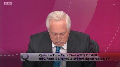 David Dimbleby signs off as host of Question Time