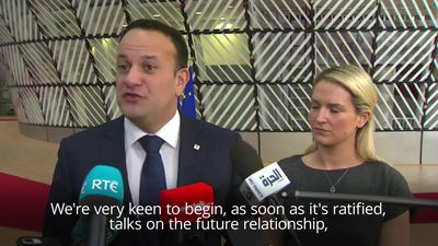 Varadkar confirms EU agreement isn't up for renegotiation