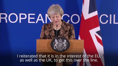 May: It is in both EU and UK interests to get Brexit done
