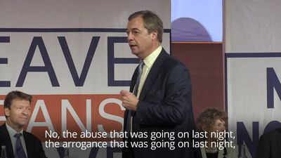 Farage alludes to Juncker's demeanour at midnight press conference