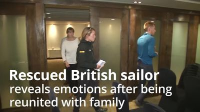 British sailor describes emotional return to dry land