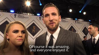 Harry Kane re-lives World Cup glory at Sports Personality of the Year awards