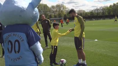 Boy who lost leg to cancer gets lifelong wish to meet Man City heroes